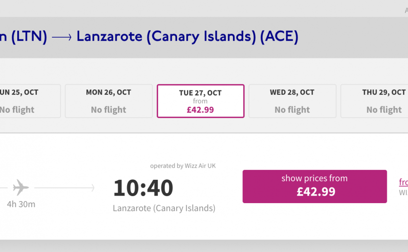 Wizz Air to launch London to Lanzarote route