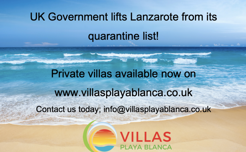 Lanzarote added to UK's safe travel list!
